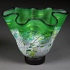 Parsley Palette by Eric Bladholm (Art Glass Vessel)