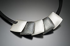 Black and White Pillows by Tom McGurrin (Silver Necklace)