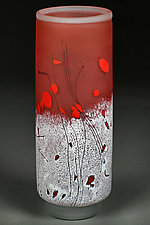 Apricot Aurora by Eric Bladholm (Art Glass Vessel)