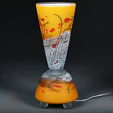 Sparkling Saffron by Eric Bladholm (Art Glass Table Lamp)