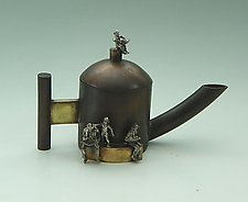 Novel Teapot by Mary Ann Owen and Malcolm  Owen (Metal Teapot)