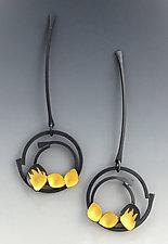 Comet Earrings by Judith Neugebauer (Gold & Silver Earrings)