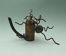 Tempest Out of a Teapot by Mary Ann Owen and Malcolm  Owen (Metal Teapot)