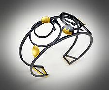 Orbit Cuff by Judith Neugebauer (Gold & Silver Bracelet)