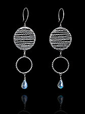 Filigree Dangle with Labradorite by Ashley Vick (Silver & Stone Earrings)