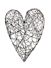 Large Wire Heart by Barbara Gilhooly (Metal Wall Sculpture)
