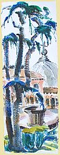 View from the Borghese Garden, Rome by Alix Travis (Watercolor Painting)