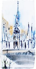 Church Across the Tiber, Rome by Alix Travis (Ceramic Wall Sculpture)