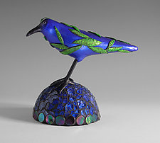 Sapphire by Patty Carmody Smith (Mixed-Media Sculpture)