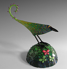 Resting in the Blue Grass by Patty Carmody Smith (Mixed-Media Sculpture)