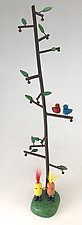 Storyteller Tree - Best Friends by Hilary Pfeifer (Wood Sculpture)