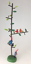 Storyteller Tree - Climbers by Hilary Pfeifer (Wood Sculpture)