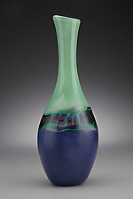 Green and Blue Vase by Scott Simmons (Art Glass Vase)