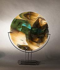Reactions VI by Vicky Kokolski and Meg Branzetti (Art Glass Sculpture)