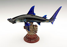 Hammerhead Shark by Paul Labrie (Art Glass Sculpture)