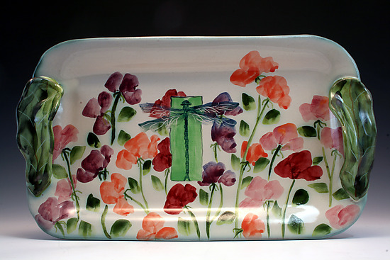 Sweetpea and Dragonfly Tray
