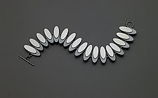 Ellipse Eclipse Bracelet by Heather Guidero (Silver Bracelet)