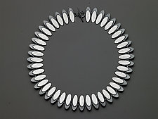 Ellipse Eclipse Necklace by Heather Guidero (Silver Necklace)