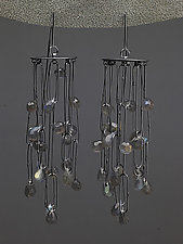 Curtain Earrings by Heather Guidero (Silver & Stone Earrings)