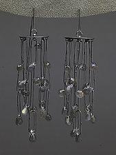 Curtain Earrings by Heather Guidero (Silver & Stone Earrings)