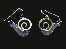 Slow Poke Earrings by Lisa and Scott  Cylinder (Metal Earrings)