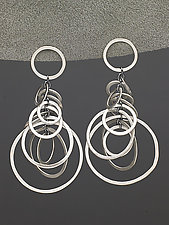 Mobile Bunches by Heather Guidero (Silver Earrings)