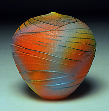 Rainbow Topography by Nicholas Bernard (Ceramic Vessel)