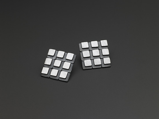 3 x 3 Square Grid Eclipse Earrings
