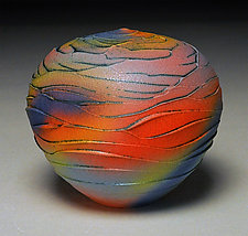 Rainbow Scallop by Nicholas Bernard (Ceramic Vessel)
