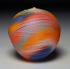 Rainbow Wave by Nicholas Bernard (Ceramic Vessel)