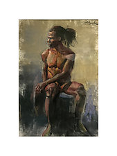 Male Figure Drawing by Cathy Locke (Pastel Drawing)