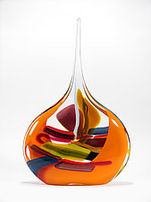 Mango Sail by Bengt Hokanson and Trefny Dix (Art Glass Vessel)