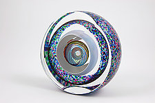 Suspended Rings Paperweight by Paul D. Harrie (Art Glass Paperweight)