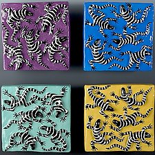 Lizard Tile Series by Lisa Scroggins (Ceramic Tiles)