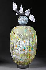 Litni Kvity (Summer Flowers) by Eric Bladholm (Art Glass Vessel)
