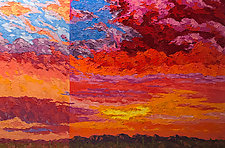 Sunrise Sunset by Jeff  Ferst (Oil Painting)