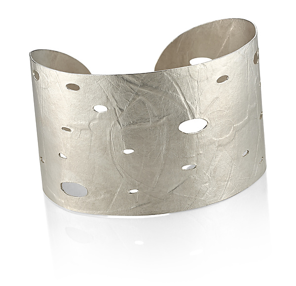 Wafer Cuff in Sterling Silver