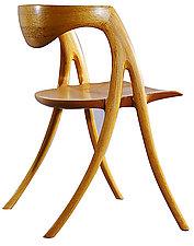 Red Oak Writing Chair by David N. Ebner (Wood Chair)