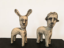 Mim and Nell by Ashley Benton (Ceramic Sculpture)