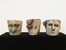 Ceramic Face Cups by Ashley Benton (Ceramic Mug)