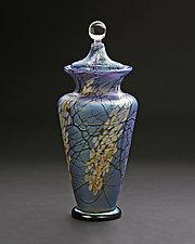 Large Magnolia Urn by Bryce Dimitruk (Art Glass Vessel)