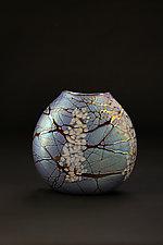 Magnolia Flat Vase by Bryce Dimitruk (Art Glass Vase)
