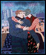 Kissing in Public by Pamela Allen (Fiber Wall Hanging)