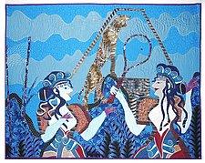 Badminton 1200 BC by Pamela Allen (Fiber Wall Hanging)