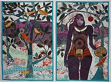 Eve in the Orchard by Pamela Allen (Fiber Wall Hanging)