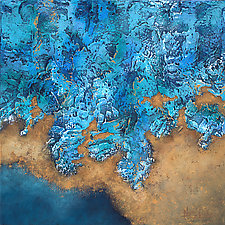 Watery Edge by Nancy Eckels (Acrylic Painting)