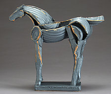 Iron Horse, Tribute Series by Jeri Hollister (Ceramic Sculpture)