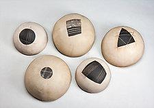 Stepping Stones by Loren Yagoda (Ceramic Wall Sculpture)