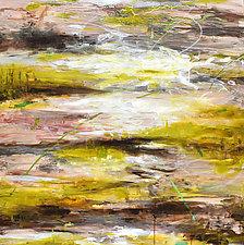 Aquifer Strata XI by Stephen Yates (Acrylic Painting)