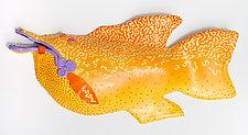 Lemon Fish II by Byron Williamson (Ceramic Wall Sculpture)